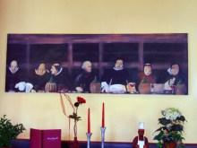 Speisende Mönche