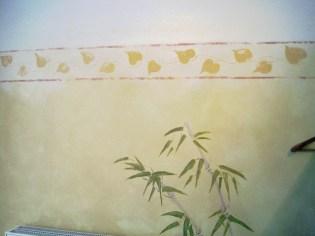 Wandgestaltung im thailändischen Stil