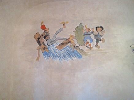 Wandmalereien nach Wilhelm Busch