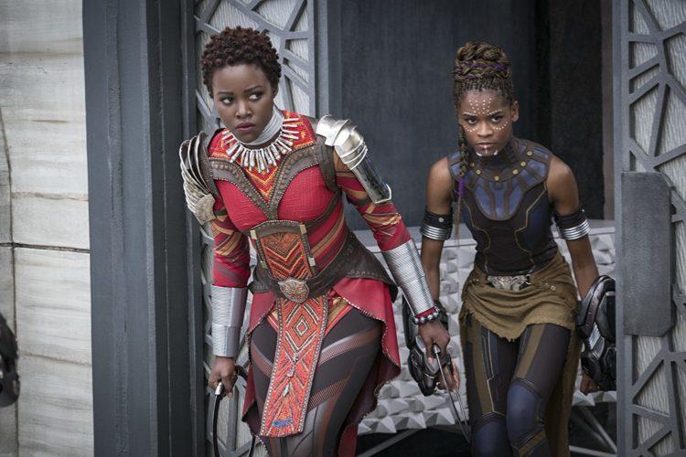 Nakia Shuri Black Panther 2018 MCU Lupita Nyong'o Letitia Wright