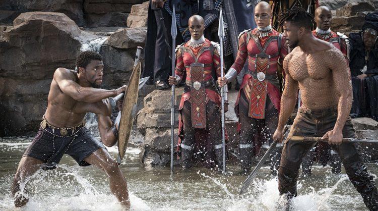 Black Panther fights Killmonger