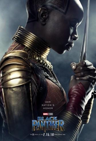 Okoye Black Panther poster 2018 MCU