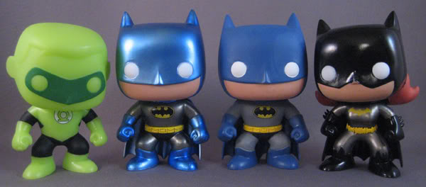 Green Lantern, Batman metallic, Batman, Batgirl