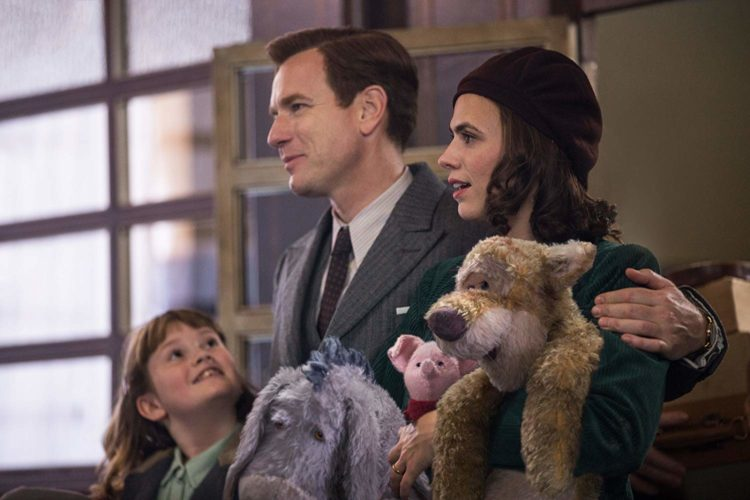 ewan mcgregor hayley atwel bronte carmichael christopher robin winnie the pooh hundred mile wood 2018