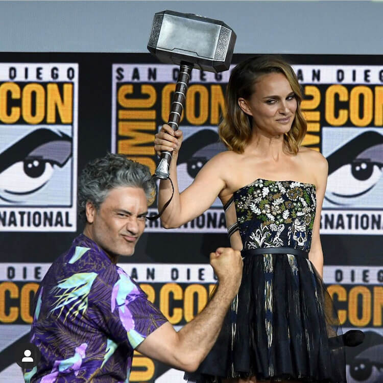 Natalie Portman and Taika Waititi at Marvel panel - SDCC 2019