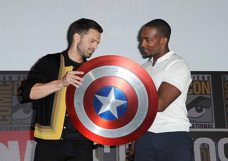 Sebastian Stan and Anthony Mackie at SDCC 2019