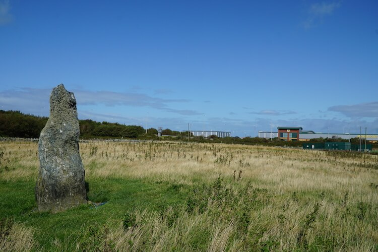 Random standing stone next to Morrisson, North Wales