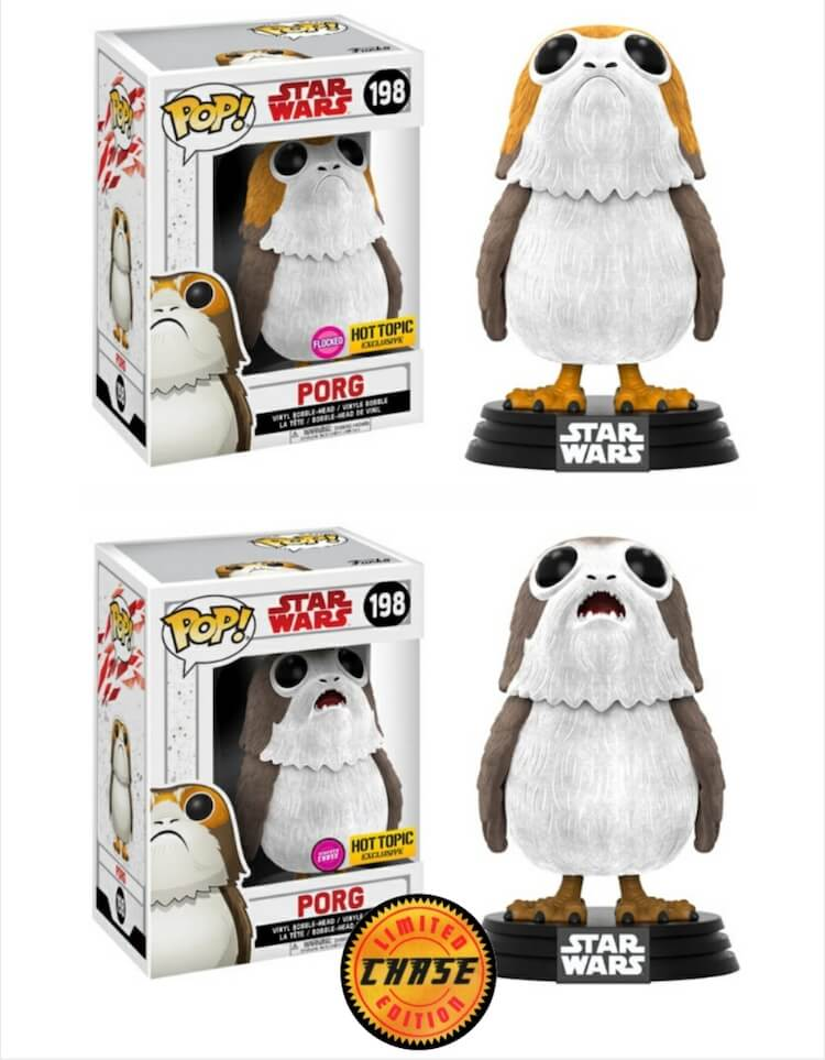 Porg Funko Pop Exclusive Flocked with Chase