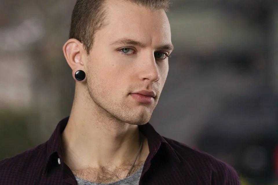 boucles d'oreilles homme