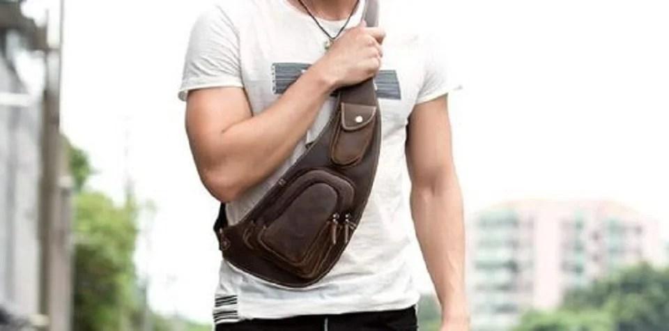 sac holster homme, le sac à bandoulière des hommes trendy
