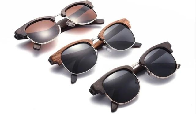 lunettes de protection solaire version boisée