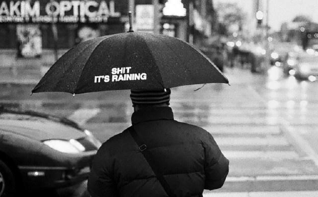 Parapluie canne à message, pour pépin plein d'humeir