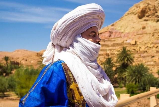 Le foulard berbère, l'ettoffe préférée des Touaregs