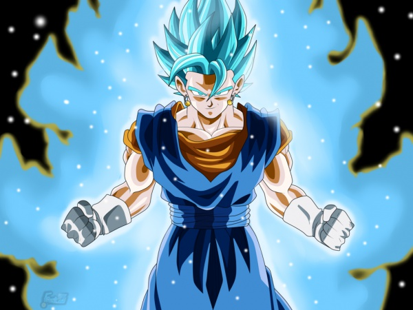 Super Saiyan Blue Vegito during Future Trunk Saga