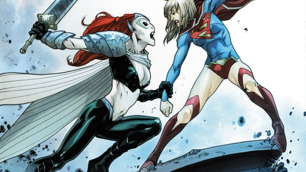 Supergirl and Reign fighting