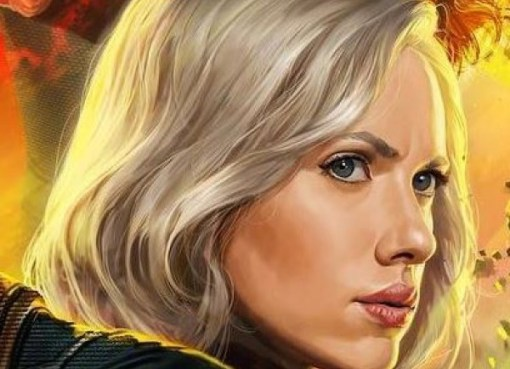 Scarlett Johanson as Black Widow in Avengers: Infinity War
