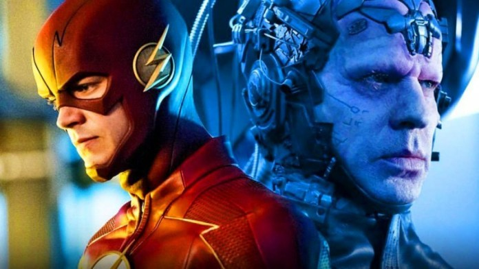 Barry Allen as the Flash and Clifford DeVoe as the Thinker