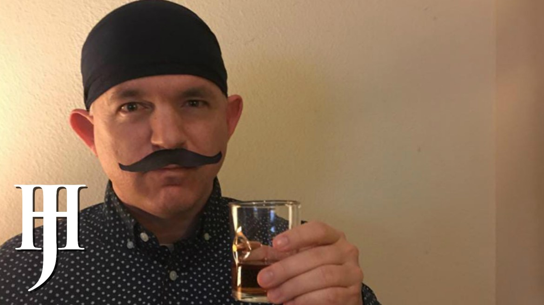 Dan with mustache