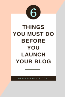 6 Things You Must Do Before You Launch Your Blog how to install WordPress theme | www.herpaperroute.com