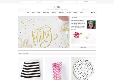 Fun WordPress Theme - Minimalist blog themes wordpress themes - 10 Stunningly Beautiful & Unique Minimalist Themes For Your WordPress Blog | herpaperroute.com