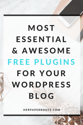 Most Essential and Awesome FREE WordPress Plugins For Your Blog - Styled Stock Photos For Your Blog - Make Money Blogging - Passive Income - Affiliates - Content - Social Media - Management - SEO - Promote   www.herpaperroute.com