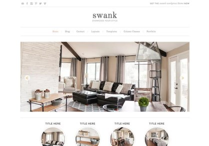 Swank WordPress Theme - Minimalist blog themes wordpress themes - 10 Stunningly Beautiful & Unique Minimalist Themes For Your WordPress Blog | herpaperroute.com