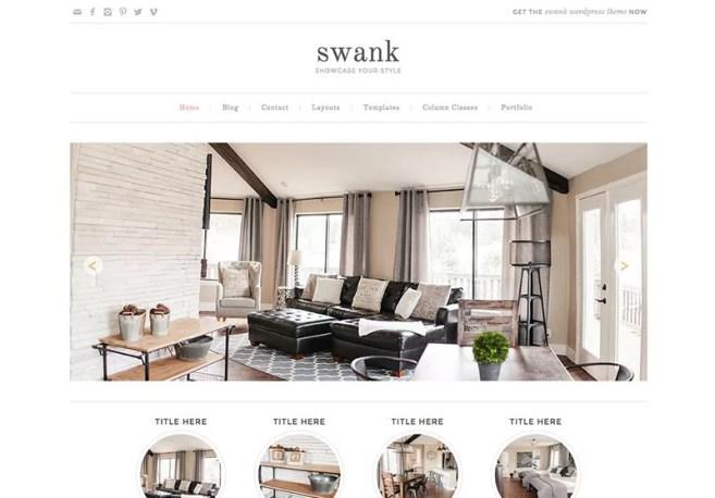 Swank WordPress Theme - Minimalist blog themes wordpress themes - 10 Stunningly Beautiful & Unique Minimalist Themes For Your WordPress Blog   herpaperroute.com