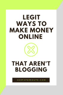 Legit ways to make money online - non blogging - ways to make money - wahm sahm work online make money from home - Real Ways To Make Money Online With Minimal Effort - Social Media - Social Media Marketing | www.herpaperroute.com