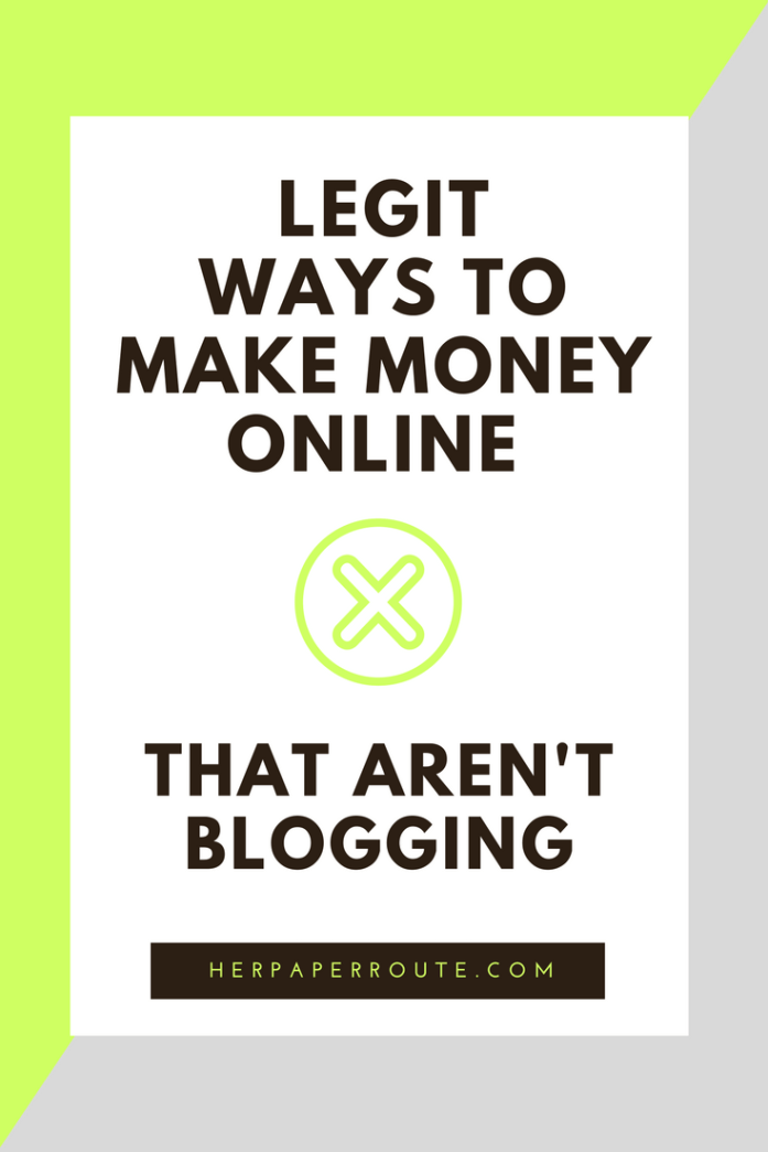 Legit ways to make money online - non blogging - ways to make money - wahm sahm work online make money from home - Real Ways To Make Money Online With Minimal Effort - Social Media - Social Media Marketing | www.herpaperroute.com