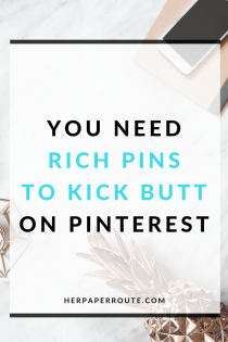 Why You Need Rich Pins To Kick Butt On Pinterest, And How To Get Them Working For Your Blog! - Start A Blog For Cheap With These Insider Tips - Where To Save And Where To Spend When Starting A Blog - HerPaperRoute - Blogging Tips - How To Blog - Free Blog Planner - Free Printables - Styled Stock Photos - Passive Income - Affiliates - Content - Social Media - Management - SEO - Promote | www.herpaperroute.com