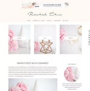 Bluchic-eminine WordPress themes - Pretty theme - make money blogging network make money blogging | herpaperroute.com