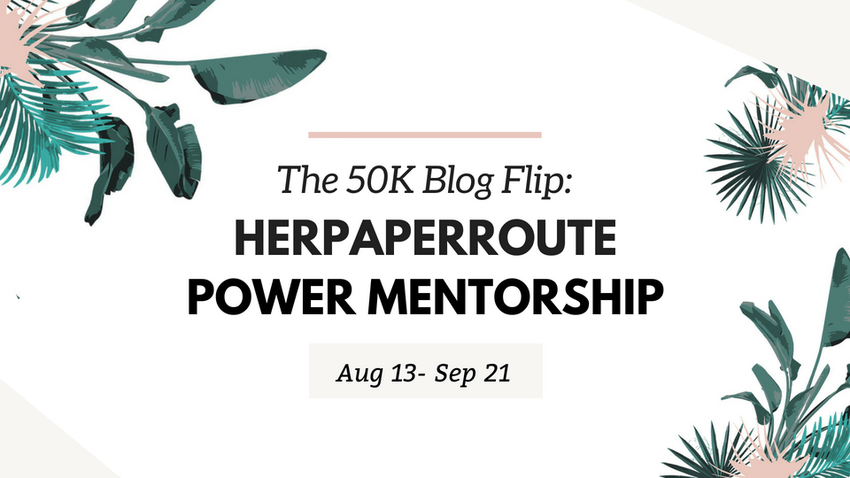 The 50K Blog Flip HerPaperRoute Power Mentorship