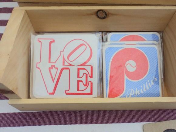 Black Heart Letter Press Philadelphia coasters at East Passyunk Avenue Crafty Balboa Craft Fair / Her Philly