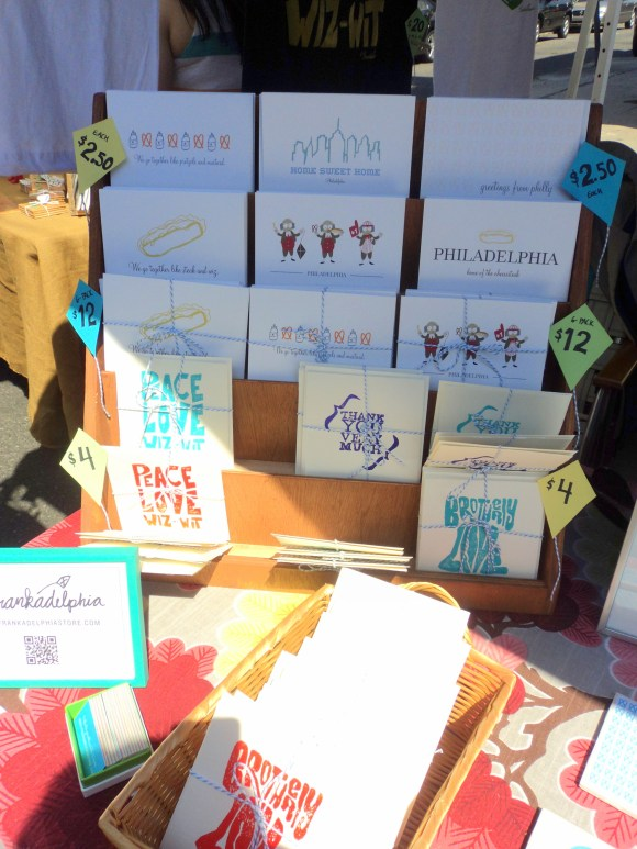 Frankadelphia Philly notecards at East Passyunk Avenue Crafty Balboa Craft Fair / Her Philly