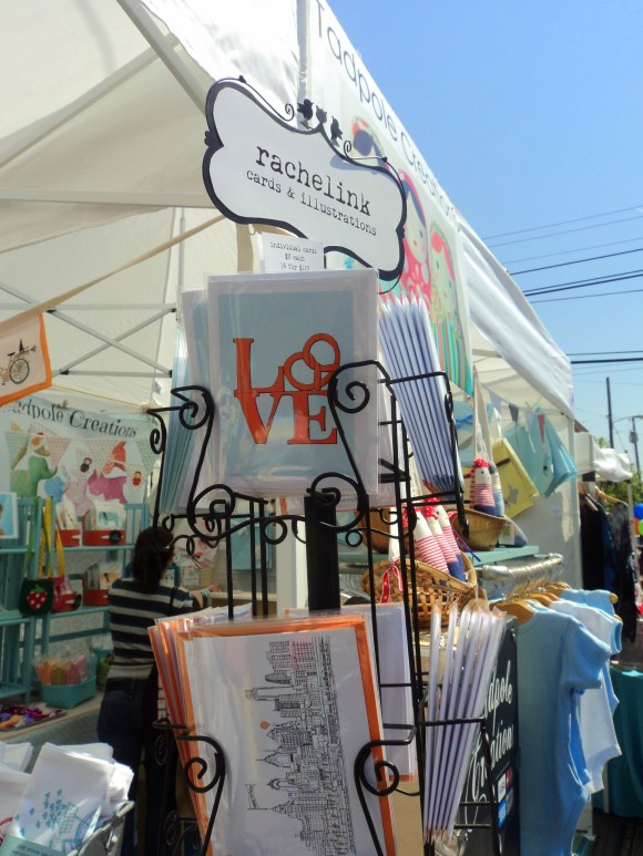 Rachelink Philly cards at East Passyunk Avenue Crafty Balboa Craft Fair / Her Philly