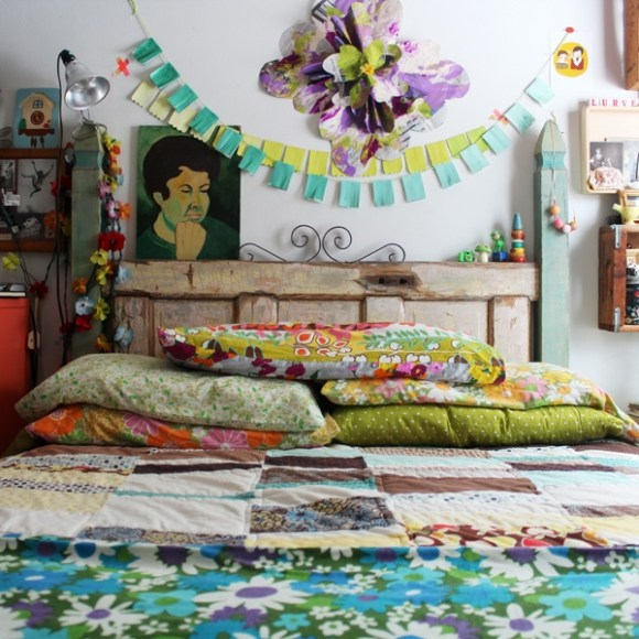 Decorating a bedroom Her Philly Small Apartment Space Decorating Ideas via Pinterest