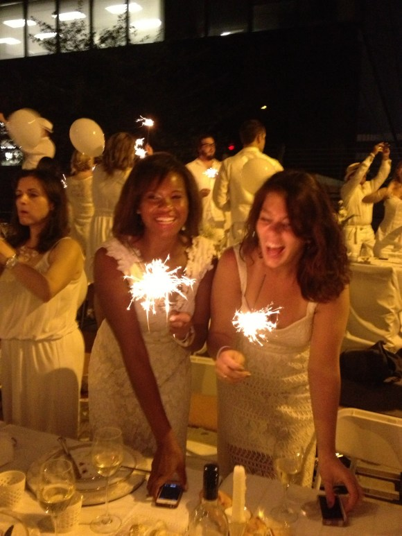 Sparklers at Philadelphia Diner En Blanc // Her Philly