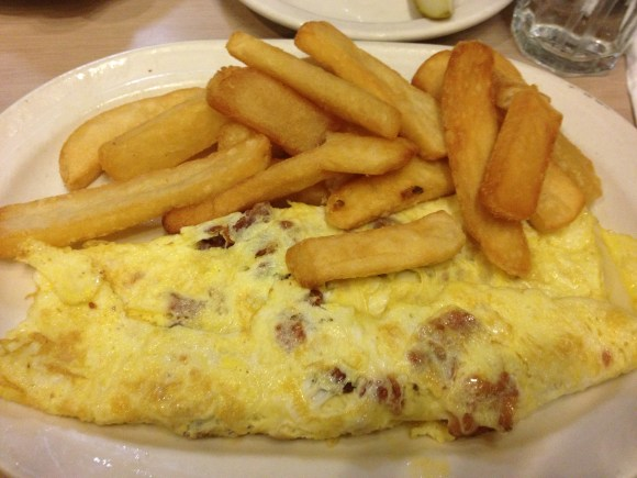 Bacon and Cheese omelet from Philadelphia diner