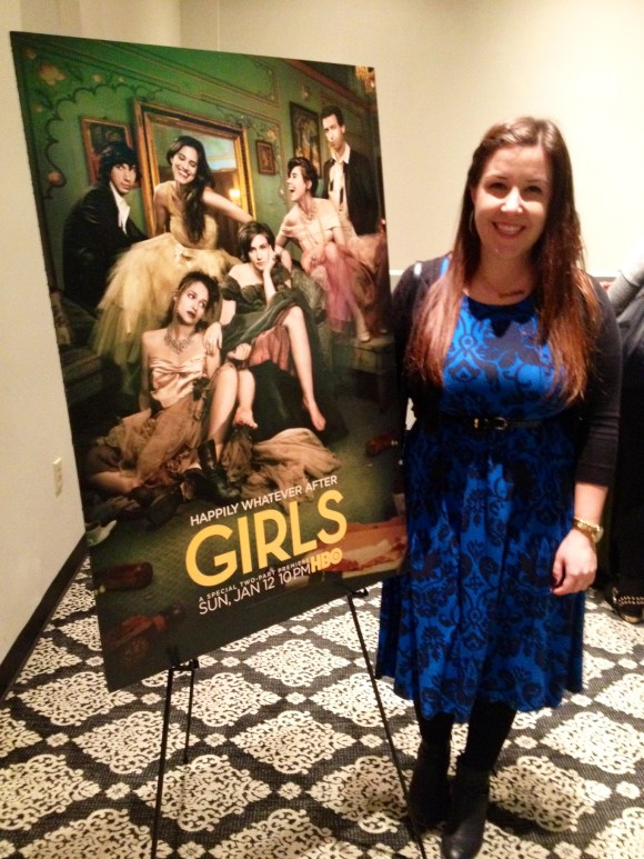 Emily Tharp of Her Philly at HBO's GIRLS Season 3 Premiere in Philadelphia #GIRLSnight