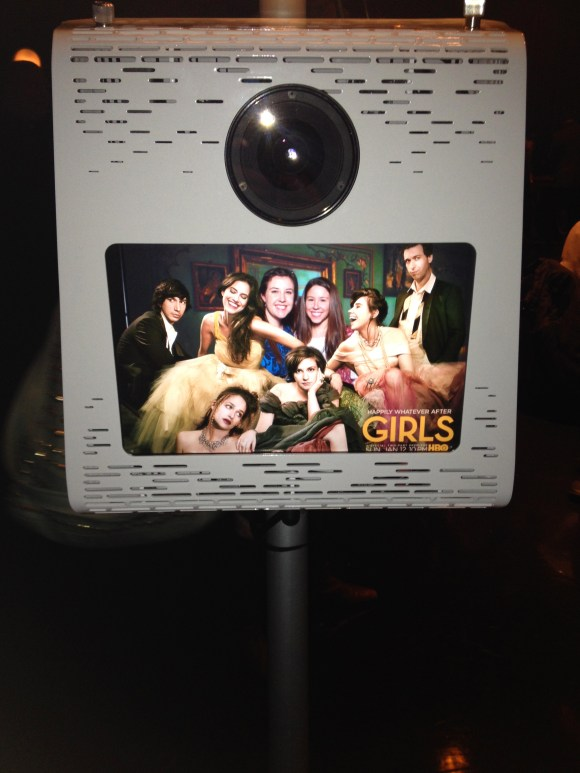 In the photobooth at HBO'S #GIRLSnight Season 3 GIRLS Premiere // Her Philly