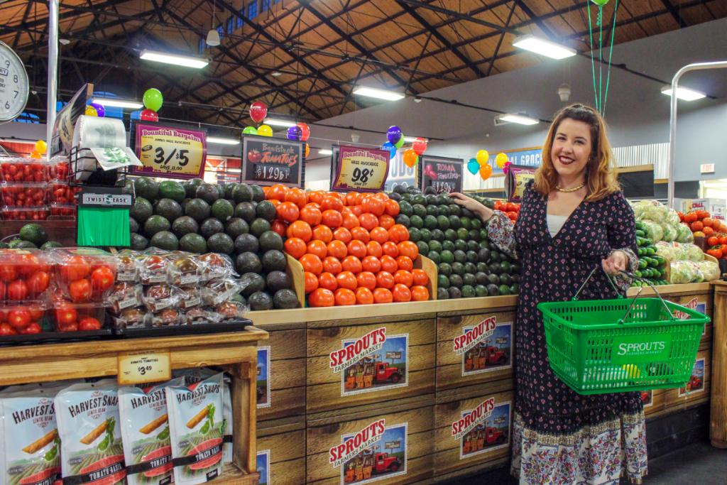 Emily Tharp Shopping at Sprouts Philadelphia
