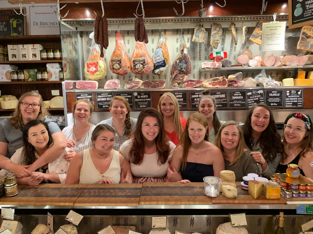 Philly group activity Di Bruno Bros After Hours event