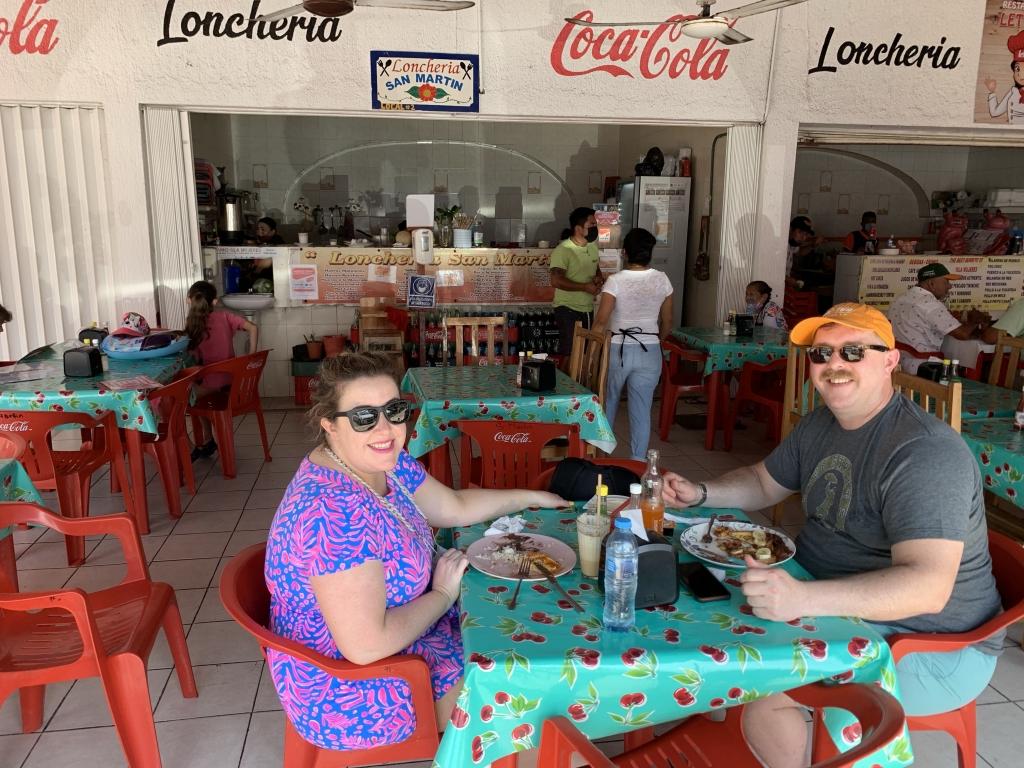 breakfast at loncheria san martin isla mujeres