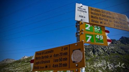Angekommen auf dem Gotthard-Pass.