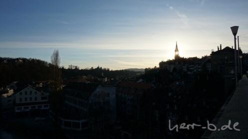Sonne im Münsterturm.