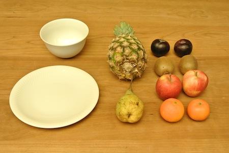 Obstdekoration für den den Tisch