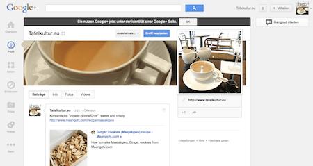 Tafelkultur.eu auf Google+