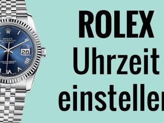 Rolex Uhrzeit einstellen - die Anleitung