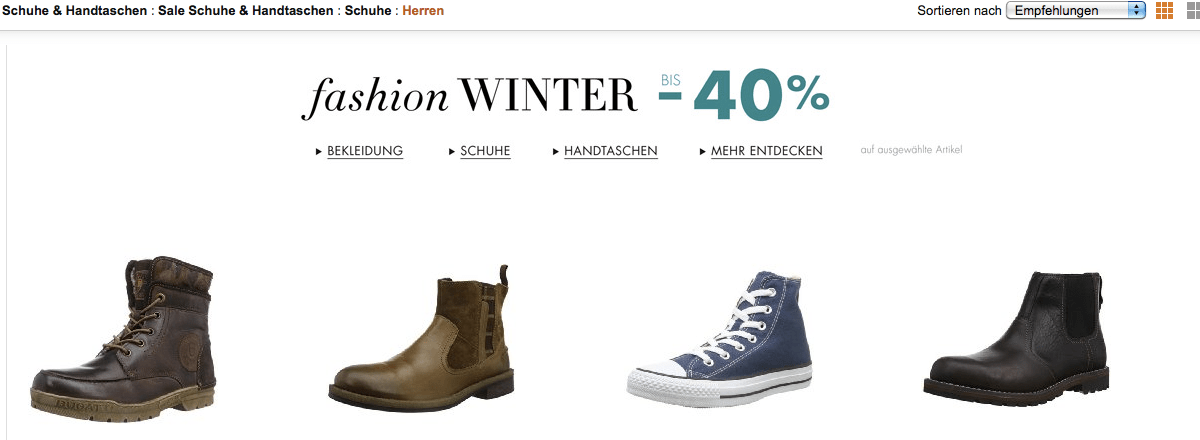 Herrenschuhe Sale bei Amazon