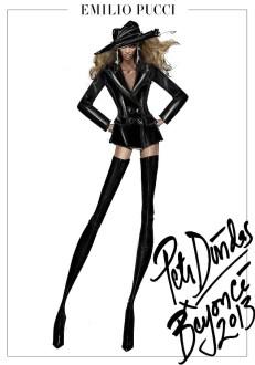 Croquis do estilista Peter Dundas, diretor criativo da marca Pucci